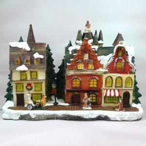 クリスマス 置物 雑貨 ヴィレッジ ハウス街 オブジェ おしゃれ|kss-s