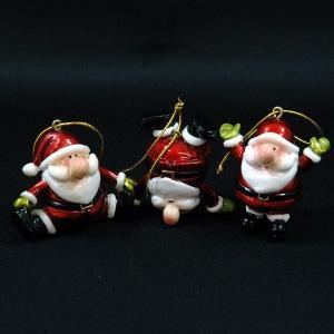 クリスマス 雑貨 飾り オブジェ サンタオーナメント 3個セット|kss-s