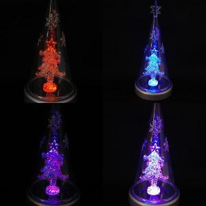 クリスマス 雑貨 飾り オブジェ ガラスドームツリーLED|kss-s