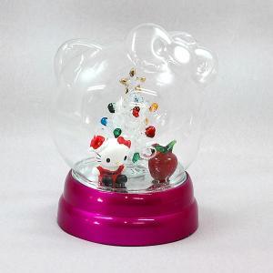 クリスマス オブジェ ハロー キティ ドーム(アップル)置物 キャラクター かわいい|kss-s