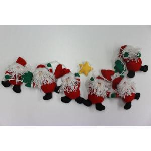 クリスマス 雑貨 飾り オブジェ ガーランド サンタ飾り|kss-s