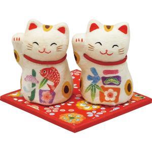 ちぎり和紙 彩招福 招き猫 (ミニ) 置物 縁起物|kss-s