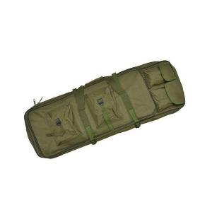 改良版 2段収納 ダブル ガンケース ライフルケース 85cm ソフトケース エアガンケース 電動ガンケース オリーブドラブ OD 緑色 kstacticalshop