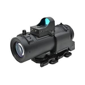 Specter DRタイプ 4X 4倍固定 スコープ タクティカルスコープ ダットサイト付 黒|kstacticalshop