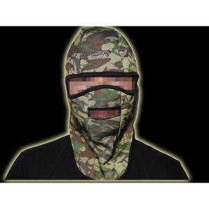 フェイスマスク バラクラバ 目だし帽 覆面 ヘルメットインナー ウッドランド 迷彩柄|kstacticalshop