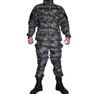 灰色 新型デジタル迷彩柄 米海軍 ピクセルグレー デジタルグレー 迷彩服 戦闘服 上下セット|kstacticalshop