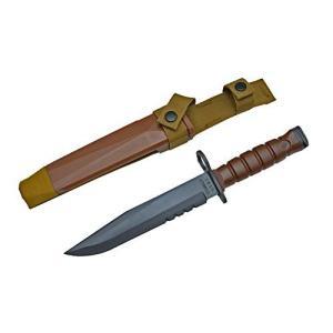米軍官給タイプ M10 バヨネット 銃剣 ダミーナイフ タクティカルナイフ プラスチック刃 茶色|kstacticalshop