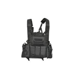 ブラック 黒色 チェストリグ Molleシステム対応 アーマーベスト ポーチ付属|kstacticalshop