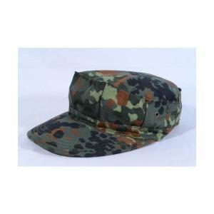 ドイツ軍 フレクターカモ ウッドランド系 迷彩柄 八角帽 ミリタリーキャップ|kstacticalshop