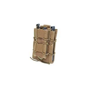 EMERSON製 (エマーソン) ダブルデッカーマグポーチ M4 M16 SCAR-H対応 タンカラー 茶色|kstacticalshop