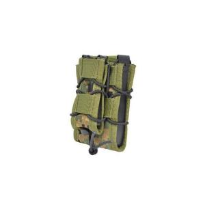 EMERSON製 (エマーソン) ダブルデッカーマグポーチ M4 M16 SCAR-H対応 ピクセルグリーン デジタルウッドランド|kstacticalshop