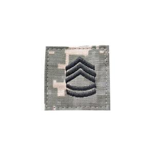 アメリカ陸軍 階級章 一等軍曹 ベルクロ付き ワッペン パッチ 徽章 ACU迷彩 UCPパターン kstacticalshop