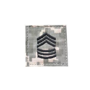 アメリカ陸軍 階級章 曹長 ベルクロ付き ワッペン パッチ 徽章 ACU迷彩 UCPパターン kstacticalshop
