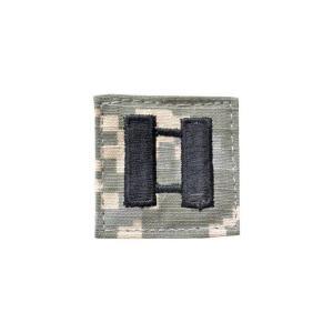 アメリカ陸軍 階級章 大尉 ベルクロ付き ワッペン パッチ 徽章 ACU迷彩 UCPパターン kstacticalshop