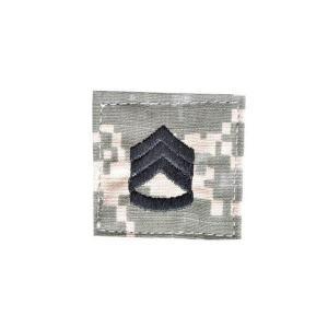 アメリカ陸軍 階級章 二等軍曹 ベルクロ付き ワッペン パッチ 徽章 ACU迷彩 UCPパターン kstacticalshop
