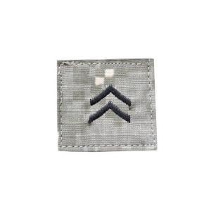 アメリカ陸軍 階級章 一等兵 ベルクロ付き ワッペン パッチ 徽章 ACU迷彩 UCPパターン kstacticalshop
