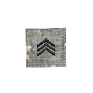 アメリカ陸軍 階級章 伍長 ベルクロ付き ワッペン パッチ 徽章 ACU迷彩 UCPパターン kstacticalshop