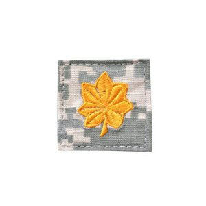 アメリカ陸軍 階級章 少佐 ベルクロ付き ワッペン パッチ 徽章 ACU迷彩 UCPパターン kstacticalshop