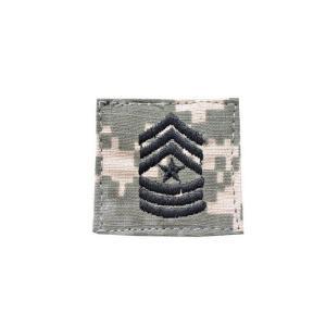 アメリカ陸軍 階級章 上級曹長 ベルクロ付き ワッペン パッチ 徽章 ACU迷彩 UCPパターン kstacticalshop