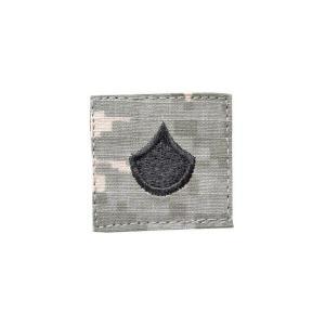 アメリカ陸軍 階級章 上等兵 ベルクロ付き ワッペン パッチ 徽章 ACU迷彩 UCPパターン kstacticalshop