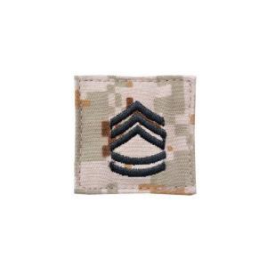 アメリカ陸軍 階級章 一等軍曹 ベルクロ付き ワッペン パッチ 徽章 ピクセルブラウン デジタルデザート|kstacticalshop