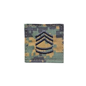 アメリカ陸軍 階級章 一等軍曹 ベルクロ付き ワッペン パッチ 徽章 ピクセルグリーン デジタルウッドランド|kstacticalshop