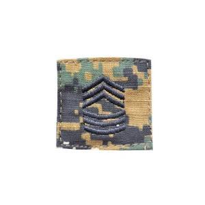 アメリカ陸軍 階級章 曹長 ベルクロ付き ワッペン パッチ 徽章 ピクセルグリーン デジタルウッドランド|kstacticalshop