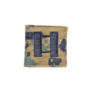 アメリカ陸軍 階級章 大尉 中隊長クラス  ベルクロ付き ワッペン パッチ 徽章 ピクセルグリーン デジタルウッドランド|kstacticalshop