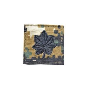 アメリカ陸軍 階級章 中佐 大隊長クラス ベルクロ付き ワッペン パッチ 徽章 ピクセルグリーン デジタルウッドランド|kstacticalshop