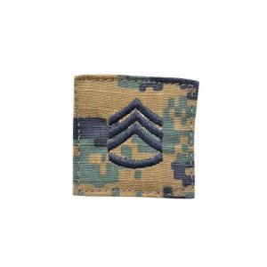 アメリカ陸軍 階級章 二等軍曹 ベルクロ付き ワッペン パッチ 徽章 ピクセルグリーン デジタルウッドランド|kstacticalshop