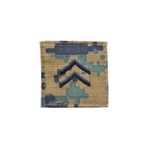 アメリカ陸軍 階級章 一等兵 ベルクロ付き ワッペン パッチ 徽章 ピクセルグリーン デジタルウッドランド|kstacticalshop