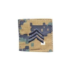 アメリカ陸軍 階級章 伍長 ベルクロ付き ワッペン パッチ 徽章 ピクセルグリーン デジタルウッドランド|kstacticalshop