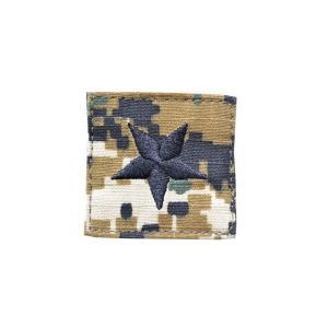 アメリカ陸軍 階級章 准将 ベルクロ付き ワッペン パッチ 徽章 ピクセルグリーン デジタルウッドランド|kstacticalshop