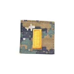 アメリカ陸軍 階級章 少尉 小隊長 ベルクロ付き ワッペン パッチ 徽章 ピクセルグリーン デジタルウッドランド|kstacticalshop