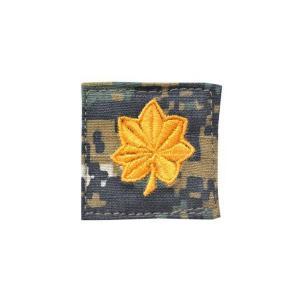 アメリカ陸軍 階級章 少佐 ベルクロ付き ワッペン パッチ 徽章 ピクセルグリーン デジタルウッドランド|kstacticalshop