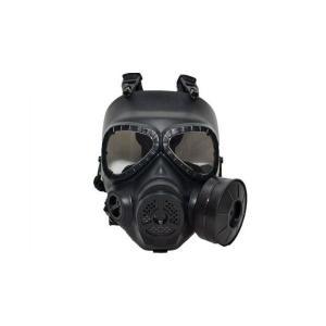 M04 ガスマスク型 曇り防止ファン付 ガスマスク ブラック 黒色 眼鏡併用可能 フルフェイスゴーグル|kstacticalshop
