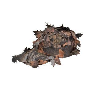 枯葉迷彩 落葉迷彩 パトロールキャップ ギリーキャップ ミリタリーキャップ 偽装葉付 茶系色|kstacticalshop