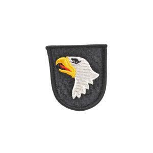 アメリカ陸軍 第101空挺師団 スクリーミングイーグル ヘリボーン 部隊章 ワッペン パッチ ベルクロ付 マジックテープ付 黒|kstacticalshop