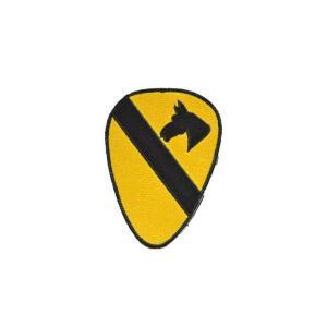 アメリカ陸軍 第1騎兵師団 部隊章 ワッペン パッチ ベルクロ付 マジックテープ付 黄色|kstacticalshop