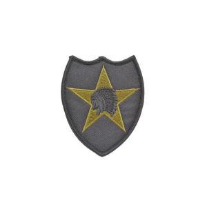 アメリカ陸軍 第2歩兵師団 部隊章 ワッペン パッチ ベルクロ付 マジックテープ付 黒|kstacticalshop