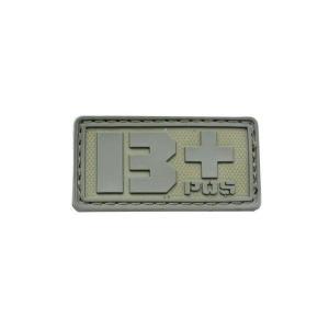 血液型 B +POS ベルクロ付き ワッペン パッチ 徽章 サバゲー オリーブドラブ OD|kstacticalshop