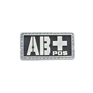 血液型 AB+ POS ベルクロ付き ワッペン パッチ 徽章 サバゲー 蓄光|kstacticalshop