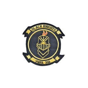 VMFA-314 ブラックナイツ Black Knights ワッペン パッチ ベルクロ付 マジックテープ付 黒|kstacticalshop