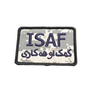 ISAF 米軍 アフガニスタン 国際治安支援部隊 ベルクロ付き ワッペン パッチ 徽章 サバゲー ACU迷彩 UCPパターン|kstacticalshop