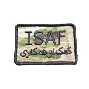 ISAF 米軍 アフガニスタン 国際治安支援部隊 ベルクロ付き ワッペン パッチ 徽章 サバゲー マルチカモ MC  新型迷彩|kstacticalshop