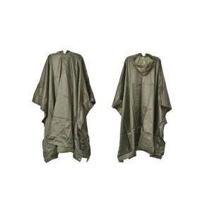 ミリタリー ナイロンポンチョ レインコート 雨具 カッパ 合羽 オリーブドラブ OD 緑|kstacticalshop