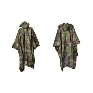 ミリタリー ナイロンポンチョ レインコート 雨具 カッパ 合羽 ウッドランド迷彩柄 アメリカ陸軍 M81迷彩|kstacticalshop