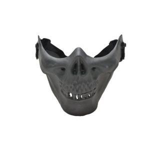 スカルライン ハーフマスク スカル 骸骨 ドクロ ガード 黒 ブラック M03型 ソルジャー マスク フェイスマスク サバゲ サバイバルゲーム ロアハーフマスク|kstacticalshop