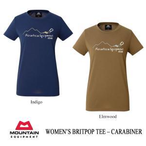 マウンテンイクイップメント Tシャツ ブリットポップ・ティー - CARABINER レディース MOUNTAIN EQUIPMENT kt-gigaweb