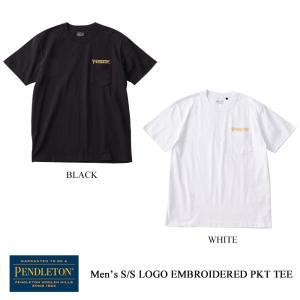 ペンドルトン メンズTシャツ ショートスリーブ ロゴエンブロイデッドポケットティー メンズ PENDLETON kt-gigaweb